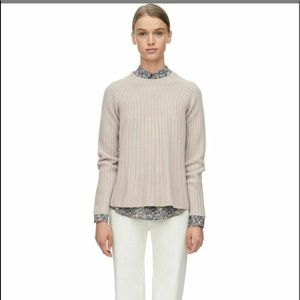 Rebecca Taylor 100% Wool Ribbed Mock Neck Sweater